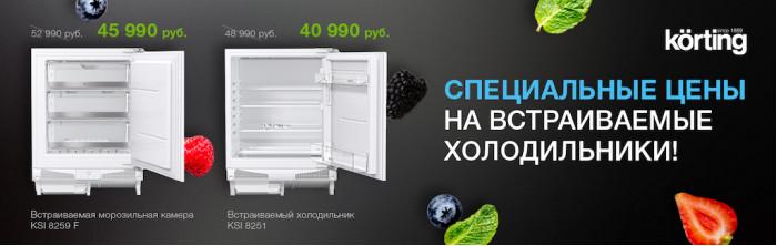 Специальные цены на встраиваемые холодильники